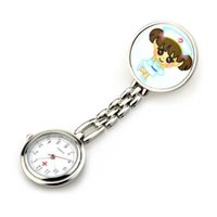 Cute Girl Design Hanging Clip Brooch Watch Nurse Doctor Watches for Ladies 6 Pieces