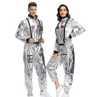 2019 جديد وصول الكبار رائد فضاء الفضاء بذلة هالوين تأثيري حزب الطيارين زوجين زي CX200817