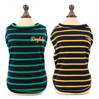 Fashion Striped Dog Clothes Breathable Cotton Puppy Summer Clothing T Shirt Elastic Loose Small Pet Cat Dogs Vest M-2XL Apparel