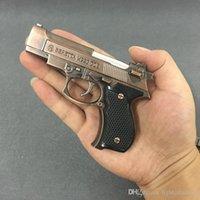 정품 67M9 금속 권총 라이터 팽창 식 방풍 가벼운 시뮬레이션 모델 토치 시가 남자 선물 소품은 진짜 총처럼 보입니다.