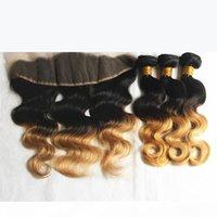 أومبير الشعر البشري العذراء بيرو ثلاثة لهجة البني شقراء 1b 4 27 # أومبير الشعر نسج حزم مع الأذن إلى الأذن الرباط أمامي