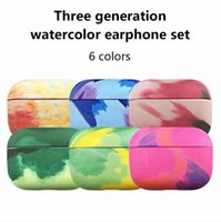 Bluetooth Earphone Case Watercolor Designed for AirPods Pro Headphone Wireless Charging Protective Cover for AirPods 3 Hard Case