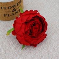 9 см Круглая голова пиона декоративное Высокое качество Свадьба DIY Цветочная арка Симулятор Silk Camellia Rose GGA4319