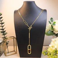 Cadena larga para las mujeres Carta redonda H Lock Jewelry S925 Silver Necklace Set Francia Calidad Superior Calidad Suéter de lujo Cadena Oro de rosa de oro