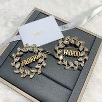 02Co d Jiadijia Новая буква Diamond Письмо Письмо Hairpin Высокая версия Латунная Вода Капля Кристалл Брошь 3R59