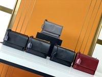 Luxurys Designer Klappen Tasche Handtaschen Sonnenuntergang Hohe Qualität Original Echtes Leder Frauen Umhängetaschen Insgesamt 4 Farben Mode Medium Crossbody