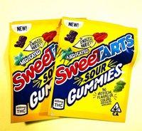 A2021 yeni sweetarts ekşi gummies packgaing çanta 600 mg 500 mg ekşi twists wowheads jöle fasulye mylar şeker ambalaj çantası boş fedex
