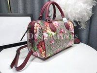 Designer Luxurys Gram Tian Unterschrift Bicolor Blooms Rote Druckbeutel Designer Womens Tote Luxus Dame Schulter Hand Handtasche Crossbody Tasche