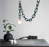 Modern simple glass restaurant pendant lamp clothing store children's room chain light