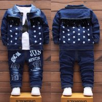 Children Baby Boys Clothes Fashion Denim Jacket Top Pants 3Pcs sets Infant Kids Casual Clothing Winter Toddler Tracksuits LJ200831 168 Z2