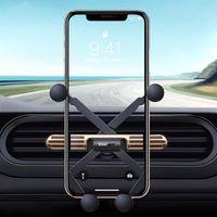 Cell Phone Mounts & Holders Universal Bracket Mini Gravity Car Holder Navigation Air Vent Mount Clip