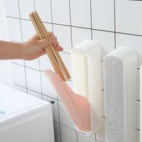 Storage Bottles & Jars Household Chopsticks Sink Holder Shelf Dust Cover Box With Lid Kitchen Wall Hanging Drain Dry Organizer