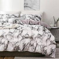 Ensembles de literie Modèle de marbre 3D Designer Literie et lit Twin Double Queen Quilt Couvre-couette Couvre couette Set de lit de lit de luxe LiterieTletlet