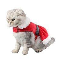 Костюмы кошек костюмы для домашних животных плащ накидка зимняя одежда рождественское пальто милый и теплый Санта-Клаус костюм Рождество Щенок