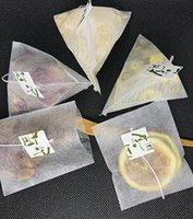 6000 unids de fibra de maíz bolsas de té de la pirámide forma de sellado térmico herramientas de filtro para bolsas de té PLA Biodegrado TEAFILTERS 5.8 * 7CM WLL1046