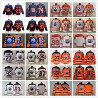 2021 Retro Retro Edmonton Oilers Hockey 74 Ethan Bear Jersey Connor 97 McDavid 29 Leon Draisait Wayne 99 Gretzky 93 Ryan Nugent-Hopkins Jerseys