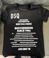 DSQ Phantom Turtle 2020SS новый мужской дизайнер футболка Paris Fashion Thirts летний DSQ шаблон футболки мужской высочайшее качество 100% хлопок топ 6866
