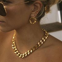 Chains 15mm Stainless Steel Chain Gold Necklace For Women Men Ketting Cuban Link Choker Gothic Woman Jewelry Colier