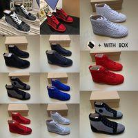 2021 Uomo Donne Bottom Bottom Sneakers di lusso Sneakers con borchie Scarpe da designer per Alta Top Black Bianco Spikes Genuine Pelle Casual Rivet Sneaker # 512