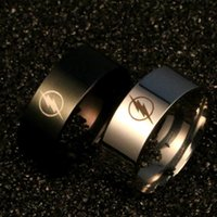 Cluster Rings Flash Ring Titanium Steel Charm Jewelry Film And Television Peripheral Men