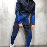 Tracksuits gradient 3D Men's print zipper hip hop sport muscle brothers suit