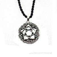 Chains 12pcs Vintage India Lotus Flower Pendant Necklace Mandala Yoga Buddhism Jewelry