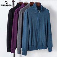 Vestes pour hommes Shan Bao 2021 Automne et hiver Brand Coloration solide Coton Loose Veste Classic Style Plus Taille Young Young Casual