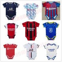 CFC 2021 2022 Bebek Kiti Formalar Paris Futbol Setleri Messi Ronaldo Mbappe AC Milano Çocuklar Suit Erkek Çocuk Futbol Gömlek 21 22 Gerçek Madrid Üniformalar 6-18 Ay Oğul Boyutu 9-12