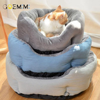 Cat Beds & Furniture Warm Pet Bed House Winter Fodable Sleeping Mat Pad Nest Kennel Cushion Kitten Supplies For Cats