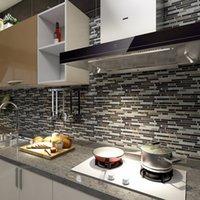 ART3D 30X30CM 3Dウォールステッカーの自己接着皮と台所の壁紙、壁紙、壁紙(10ピース)のためのスティックバックスプラッシュタイル