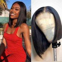 Jaycee 4x4 Krótki Bob Koronkowy Wig Proste Ludzkie Peruki Dla Czarnych Kobiet 150% Brazylijski Włosy Perruque Cheveux Humain