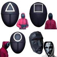 Nuovo TV Squid gioco maschera maschera maschere uomo rotondo Squire Triangle Mask Accessori Delicata Halloween Masquerade Costume Party Puntelli DHL