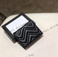 kurze halter brieftasche echtes leder kreditkarten case superme cartoon münze geldbörse puche reißverschluss gesteppte weiche mini brieftaschen