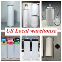 Local warehouse! Sublimation Tumblers straight 304 stainless steel sippy cups water bottles Wholesale coffee mugs double insulated cup fast ship A13