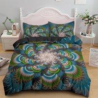 Bedding Sets 3D Digital Multi-color Mandala Flower Set Boho Duvet Cover Bohemian Comforter Covers Bed Bedroom Decoration