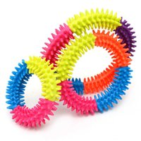 Kids Fidget Finger Tip Decompression Toys Rainbow Round Bracelet Children's Bangle Wristband Stress Relief Anxiety Needs Toy Game Gifts G739