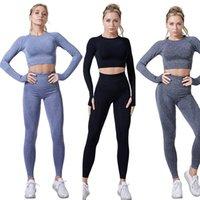 المرأة سلس اليوغا مجموعة اللياقة الرياضية الدعاوى رياضة الملابس المحاصيل الأعلى أنثى طماق الرياضة النساء اللياقة اللياقة اليوغا السراويل الرياضية الأعلى