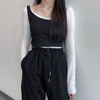 Women's T-Shirt Spring 2021 Autumn Tshirt Women Harajuku Korean Style Tops Fashion Vintage Clothes Personality Sexy Tight 2 Piece