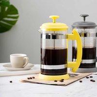 Teiera in acciaio inossidabile Teiera Cafetiere French Tea Percolore Filtro Stampa Plunger 1000ml Manuale Caffè Caffè Caffè Caffè Caraquadratrice