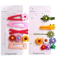 10pcs Colorful Daisy Flower Hairpins Barrettes For Baby Chil...