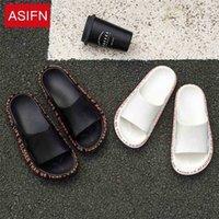 AsiFn zapatillas para hombres verano playa flip flop chanclas hombre casual diapositivas masculino fuera de las mujeres hogar antideslizante suave suela exterior 210622