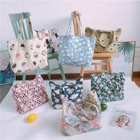 Многоразовый холст сумка сумка для покупок сумки покупатель сумка японский стиль напечатанные овощные свежие сумки дома хранения сумка CCA7086