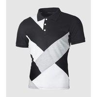 MrMt 2021 novos homens de verão Poloscirts Splice Curto Mouw Polo Camisa para Homens Revestimentos Lazer Tops PoloShirts