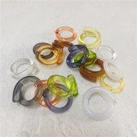 Anello trasparente in rete rossa in resina coreana, temperamento versatile, diametro interno circa 18 mm T5rg