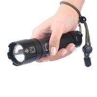 30W LED Tactical Pochodnie, 1800 Lumenów Jasna latarka Wodoodpoodpoodpoodpiękny Przenośny USB Rechargeable Handheld Lighting Reflektor do Camping Piesze wycieczki na zewnątrz