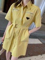 2021 المرأة اللباس شارع نمط العلامة التجارية قمصان طويلة محدودة طبعة حزام الديكور التفصيل معالجة الكمال أعلى جودة المواد التلبيب الربيع البلوزات للإناث
