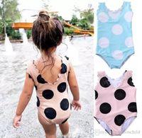 2021 Toddler Kids Baby Girl Dot Bikini Biquini One piece Swimwear Swimsuit Beach Holiday Bathing Suit Swimming Costume Clothes 1-5Y