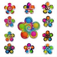 Push It Fidget игрушки красочные сенсорные пальцы пузыри простой ямп 3 листа 5 боковой декомпрессионный игрушка играет антистрессовый спиннер