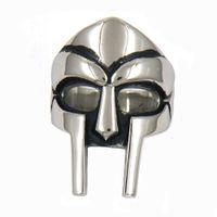 RING STAINLESS STEEL mens or womens PUNK VINTAGE TRIBAL man mask SIGNET GIFT fsr11W95