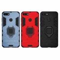 Stoßfest Rüstungskoffer für Huawei Y9 2018 Fall Huawei y 9 2018 Ringhalter Stand Telefon Back Cover für Genießen Sie 8 Plus FLA-LX1 COQUE